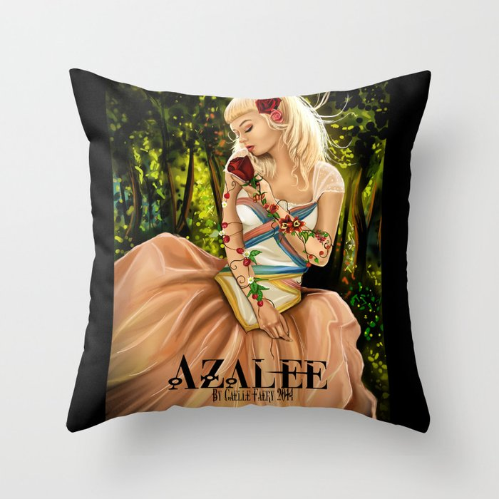 Azalée  Throw Pillow