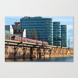 RED TRAIN - BERLIN Canvas Print