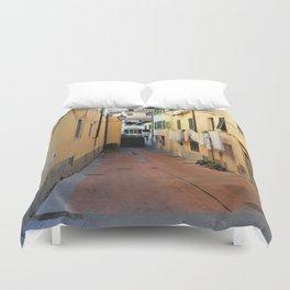 Laundry Day in Figline Valdarno Duvet Cover