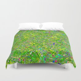 Abstract RR QQY Duvet Cover
