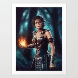 Warrior Queen Art Print