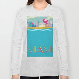 Miami 1980s poster Long Sleeve T-shirt