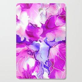Purple Posies Cutting Board