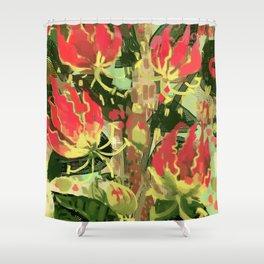 Gloriosa rothschildiana Shower Curtain