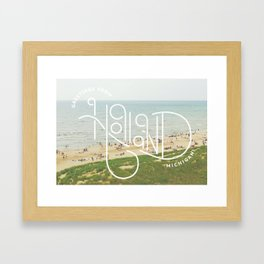 Greetings From Holland, Michigan Framed Art Print