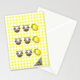 Milk Milk Lemonade Emoji Stationery Cards