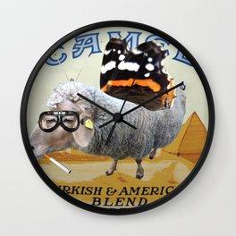 Sheep smoking... Wall Clock
