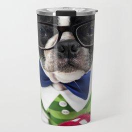 Boston Terrier Nerd Travel Mug