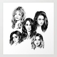 Pretty Little Liars Art Print