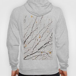 Snowy birch twigs and leaves #society6 #decor #buyart Hoody
