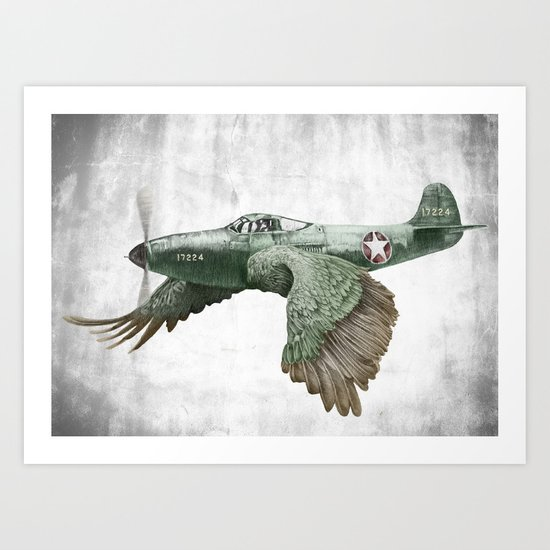 In which it's a bird. It's a plane. (Now in technicolour) Art Print