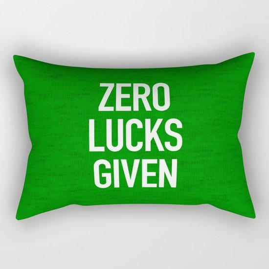 Zero Lucks Given Rectangular Pillow