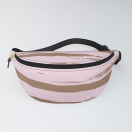 Rose brown abstract expressive brushstroke Fanny Pack