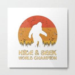 Vintage Hide And Seek World Champion Bigfoot Sasquatch Metal Print