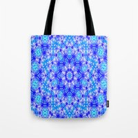 snowflake Tote Bags featuring Snowflake by Kimberly McGuiness