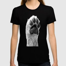 Black and White Dog Paw T-shirt