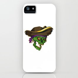 Art of a bloodthirsty pirate iPhone Case