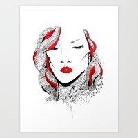 rihanna Art Prints featuring Rihanna  by Ina Spasova puzzle