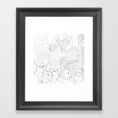Space Barista Market Framed Art Print