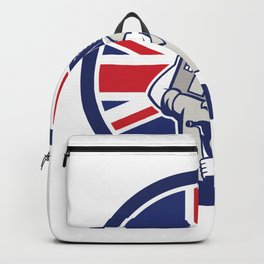 British Building Contractor UK Flag Icon Backpack