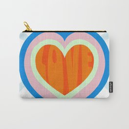 heart of love, orange Carry-All Pouch