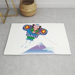 Japanese Kite and Mt.Fuji Rug