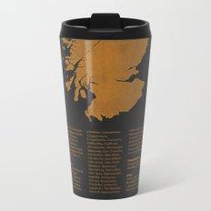 Distilleries of Scotland (woodpress) Metal Travel Mug