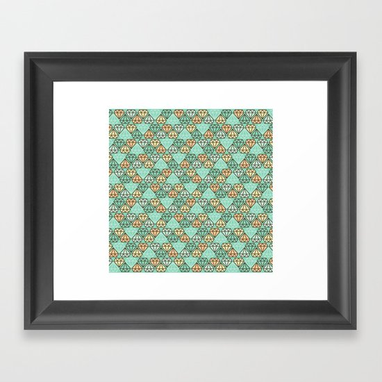 Diamonds are forever Framed Art Print