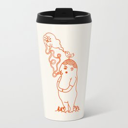 Your Little Cloudy Ghost (With Staches) Travel Mug