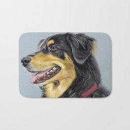 Dog Portrait 01 Bath Mat