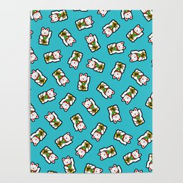 Lucky Cat Pattern Poster