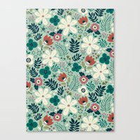 garden Canvas Prints featuring Flower Garden by Anna Deegan
