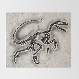Dino Fossil Throw Blanket