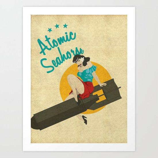 Atomic Seahorse Art Print
