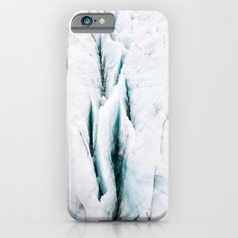 Minimalist Glacial Structures in Iceland – Landscape Photography iPhone Case