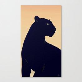 Sunset Black Panther Canvas Print