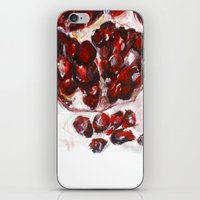 pomegranate iPhone & iPod Skins featuring Pomegranate by James Peart