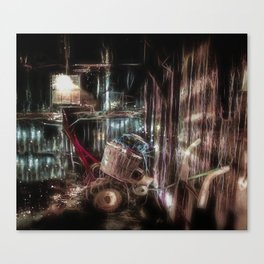 Fireflies In The Tool Shed Canvas Print
