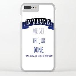 YORKTOWN | HAMILTON Clear iPhone Case