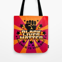 BLM-Silence is Violence Tote Bag