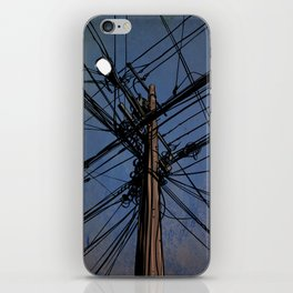 wires 02 iPhone Skin