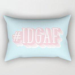 #IDGAF Rectangular Pillow