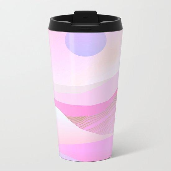 Pink Hills Metal Travel Mug