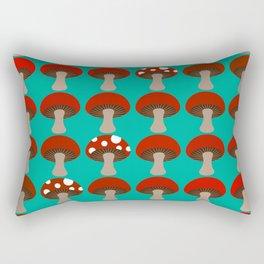 Mushroom | Ombre | Peacock Green Rectangular Pillow