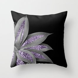 Agave Finesse Glitter Glam #3 #tropical #decor #art #society6 Throw Pillow