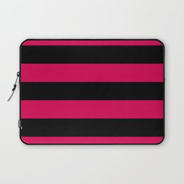 Big Stripes Black Dark Pink Laptop Sleeve