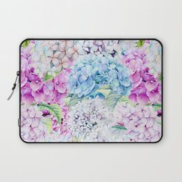 Multicolor Watercolor Hydrangea dream pattern Laptop Sleeve