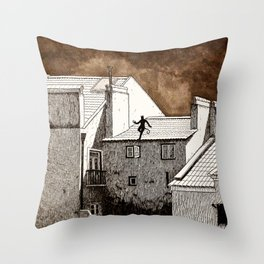 cat burglar Throw Pillow