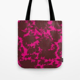 dark floral silhouette on deep pink Tote Bag