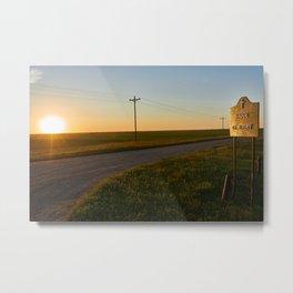 Hauge Cemetery Sunset Metal Print